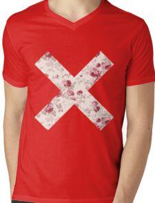 The XX Logo (Floral Pattern) Mens V-Neck T-Shirt