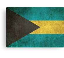 Old and Worn Distressed Vintage Flag of Bahamas Canvas Print
