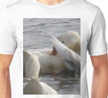 White on Gray Unisex T-Shirt