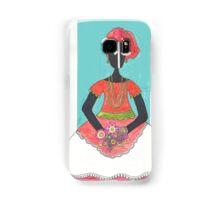 Baiana from Brazil holding flowers Samsung Galaxy Case/Skin