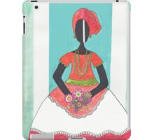 Baiana from Brazil holding flowers iPad Case/Skin