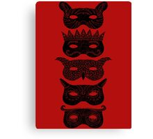 Masks Canvas Print