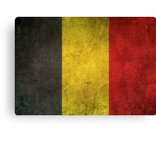 Old and Worn Distressed Vintage Flag of Belgium Canvas Print
