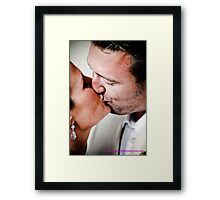 kiss me quick... Framed Print