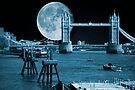 Blue Moon: Tower Bridge London UK by DonDavisUK