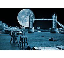 Blue Moon: Tower Bridge London UK Photographic Print