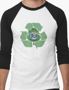 recycle earthday Men's Baseball ¾ T-Shirt