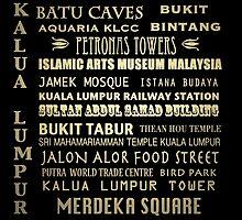Kalua Lumpur Famous Landmarks by Patricia Lintner