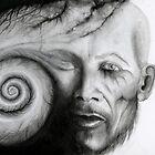 Spiral by svart