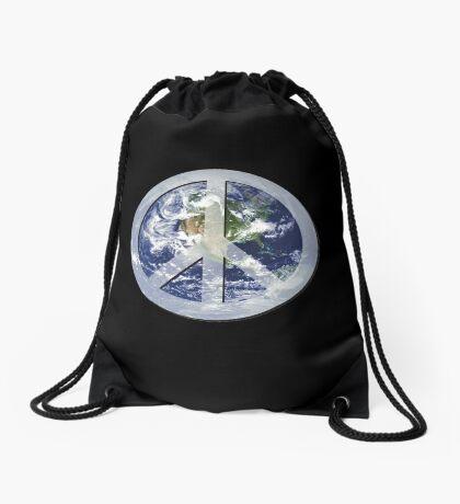 peace on earth Drawstring Bag