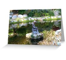 Boy with Boat statue in Fitzgerald Park - Cork City, Ireland Greeting Card