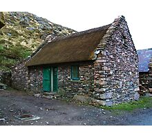 Thatched Cottage, Cill Rialaig Village - Ballinskelligs, Kerry, Ireland Photographic Print