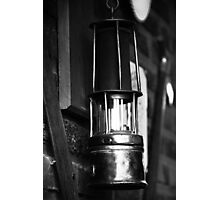 An Old Light in Darkness Photographic Print