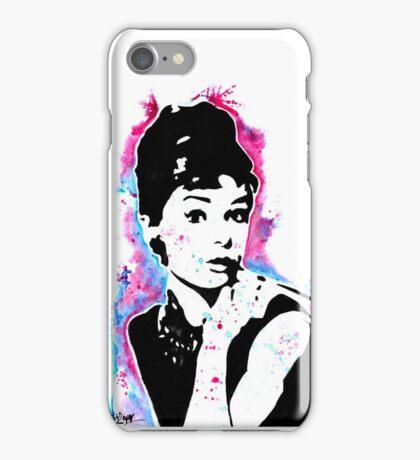 Audrey Hepburn - Street art - Watercolor - Popart style - Andy Warhol Jonny2may iPhone Case/Skin