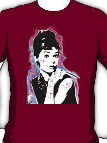 Audrey Hepburn - Street art - Watercolor - Popart style - Andy Warhol Jonny2may T-Shirt