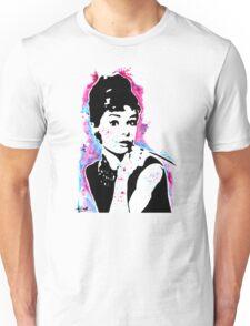 Audrey Hepburn - Street art - Watercolor - Popart style - Andy Warhol Jonny2may Unisex T-Shirt