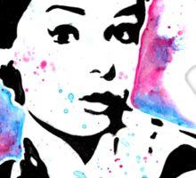 Audrey Hepburn - Street art - Watercolor - Popart style - Andy Warhol Jonny2may Sticker