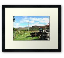 Rusted Tractor - Kerry, Ireland Framed Print