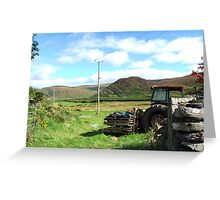 Rusted Tractor - Kerry, Ireland Greeting Card