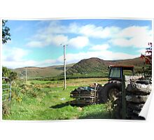Rusted Tractor - Kerry, Ireland Poster