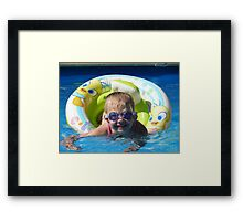 Goggles are cool Framed Print
