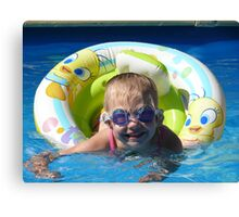 Goggles are cool Canvas Print