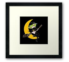 Green Witch Moon  11 Framed Print