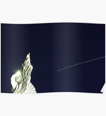 ISS/Space Shuttle and the angel Poster