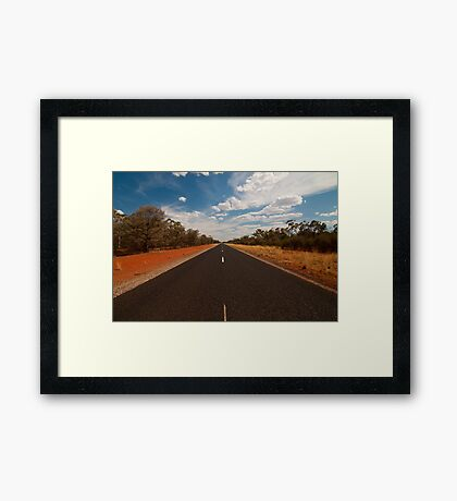 The Road Just Travelled Framed Print