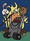 Teddy Bear And Bunny - Gone Native by Brett Gilbert
