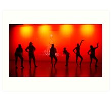 Silhoutte Dancers Art Print