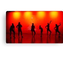 Silhoutte Dancers Canvas Print