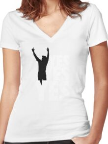 Yes Yes Yes! Women's Fitted V-Neck T-Shirt