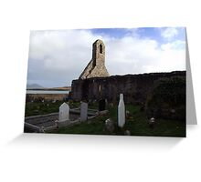 Ballinskelligs Abbey & Graveyard Greeting Card