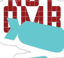 Drop Beats Not Bombs Sticker