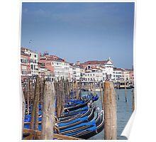 Venice - Gondole line up Poster