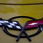 C5 Corvette Emblem  by Matthew Hutzell