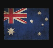Old and Worn Distressed Vintage Flag of Australia One Piece - Short Sleeve