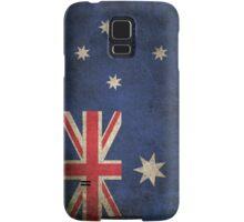 Old and Worn Distressed Vintage Flag of Australia Samsung Galaxy Case/Skin