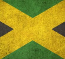Old and Worn Distressed Vintage Flag of Jamaica Sticker