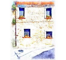 Laurana Cilento: house facade with windows Photographic Print