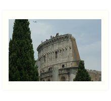 Colosseum close-up, Rome Art Print