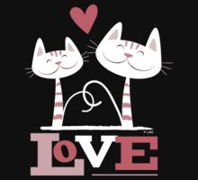Valentine Love Cats (v2) by Lisa Marie Robinson