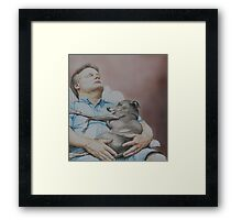 Russ and Tony-Nap Buddies Framed Print