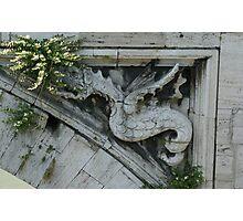 Bridge ruin over the Tiber River, Rome Photographic Print