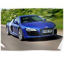 The Audi R8 V10 .... Poster