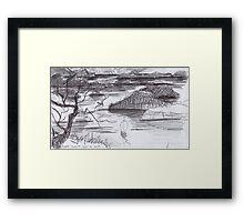 ENDLESS ISLANDS(INK PEN DRAWING)(C2007) Framed Print