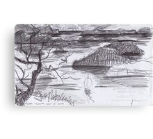 ENDLESS ISLANDS(INK PEN DRAWING)(C2007) Canvas Print