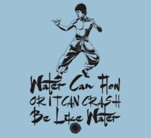 Bruce Lee - Be Like Water - Black T-Shirt