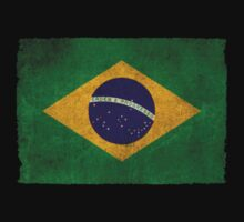 Old and Worn Distressed Vintage Flag of Brazil Kids Clothes